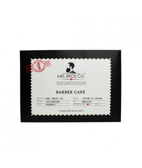 CAPA DE BARBERO MEL BROS CO. -BLANCO